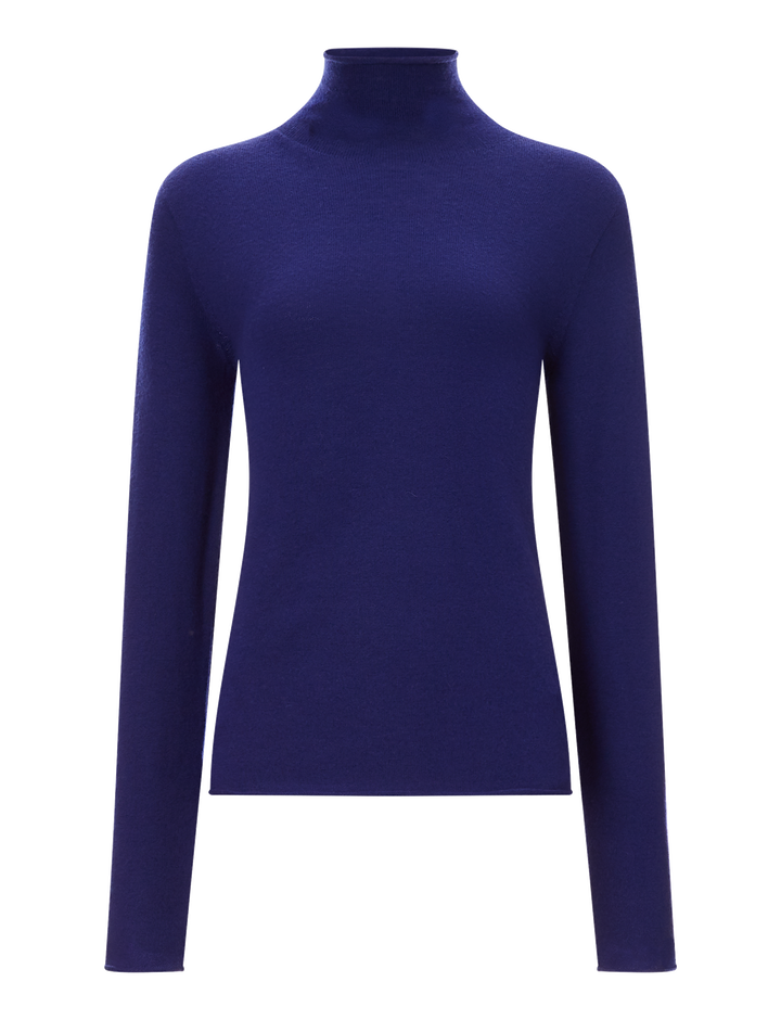 Joseph, High Neck Seamless Knit, in SAPHIRE