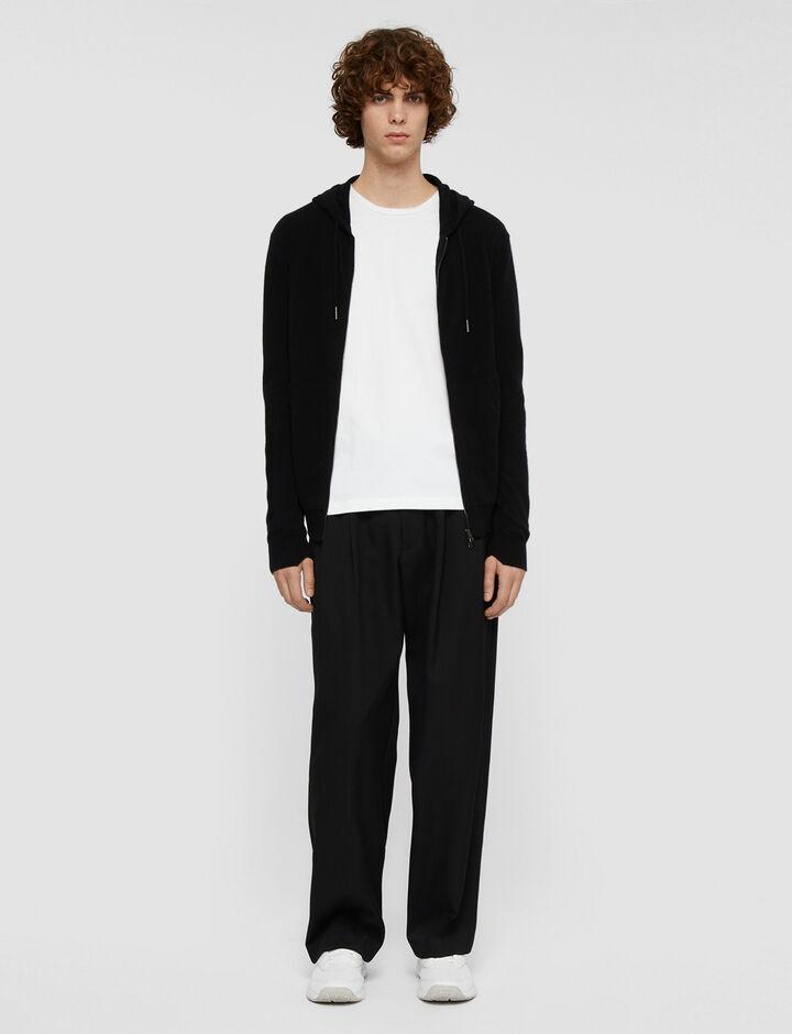 Joseph, Hoodie Cashmere Knit Knitwear, in Black
