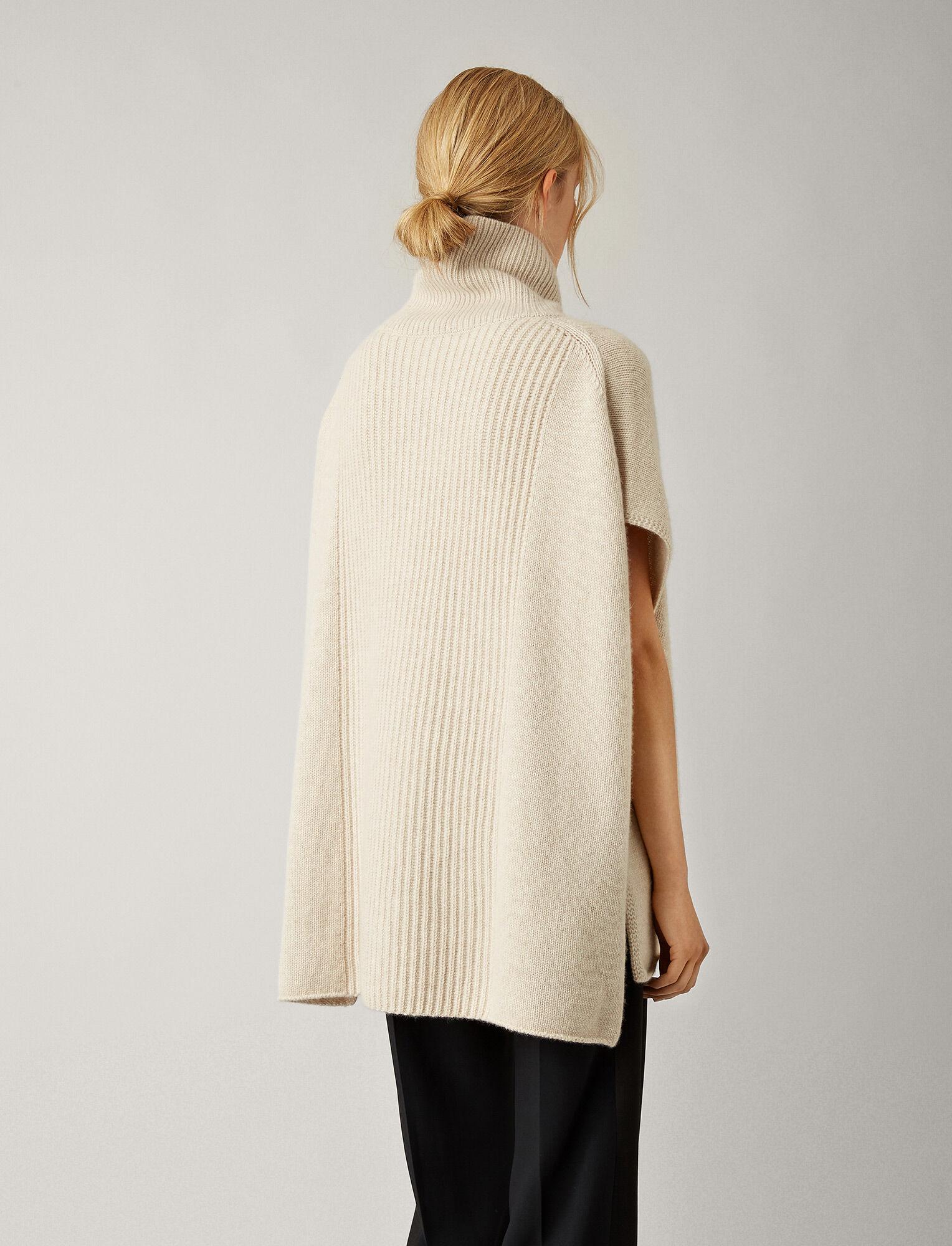 Joseph, Poncho en tricot de cachemire luxe, in MASTIC