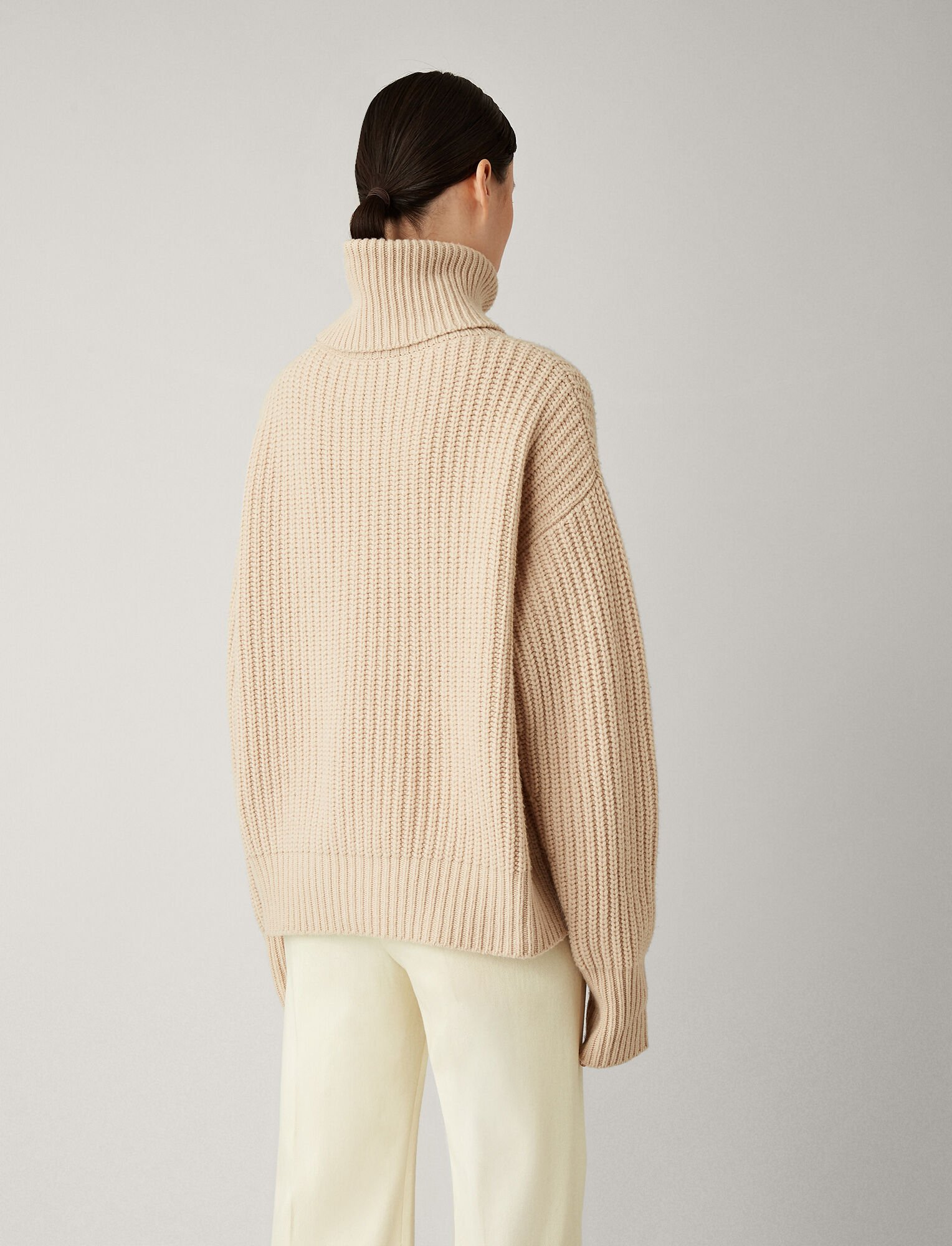Joseph, Pearl Sweater Soft Wool Knit, in LATTE