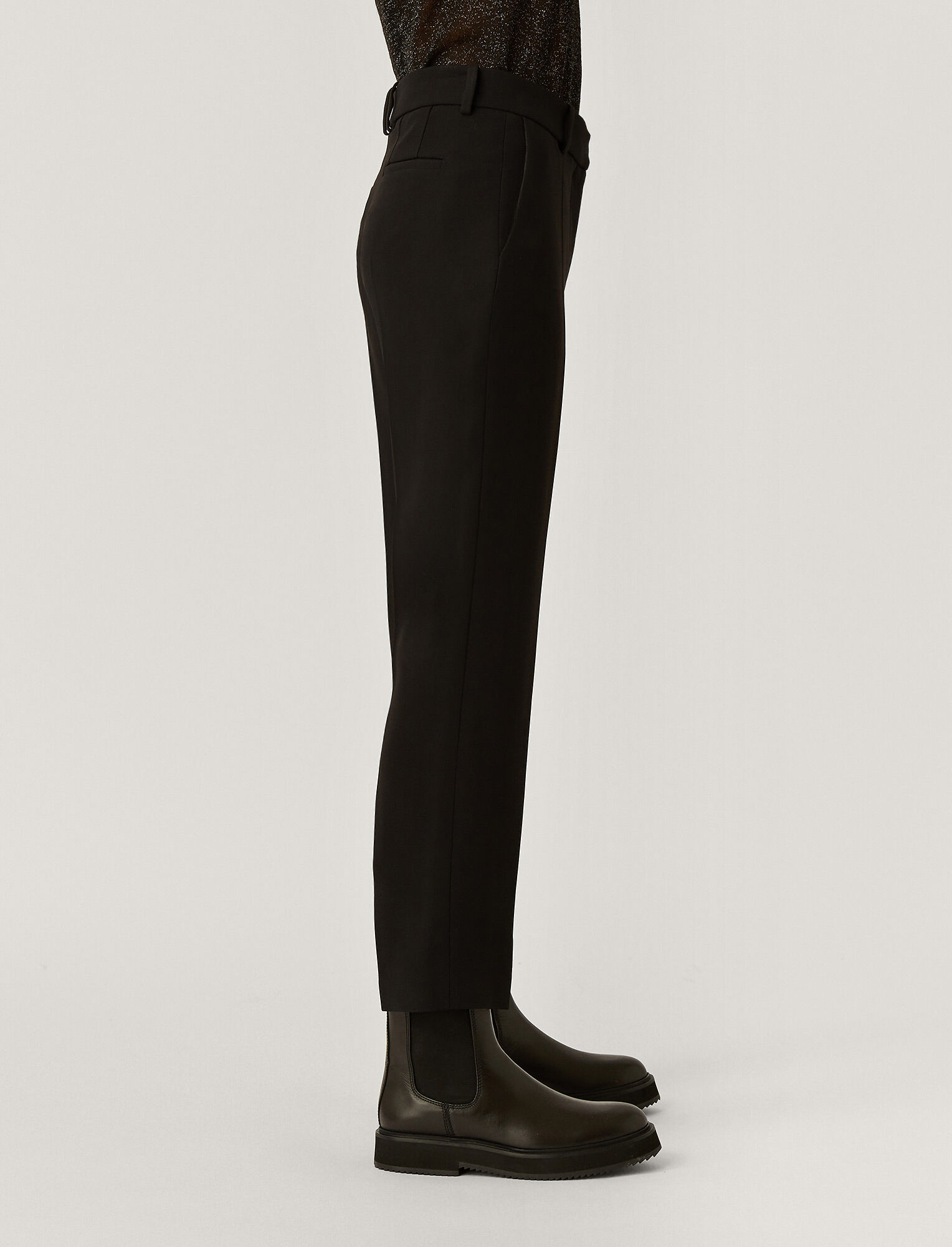 Joseph, New Cady Tape Trousers, in BLACK