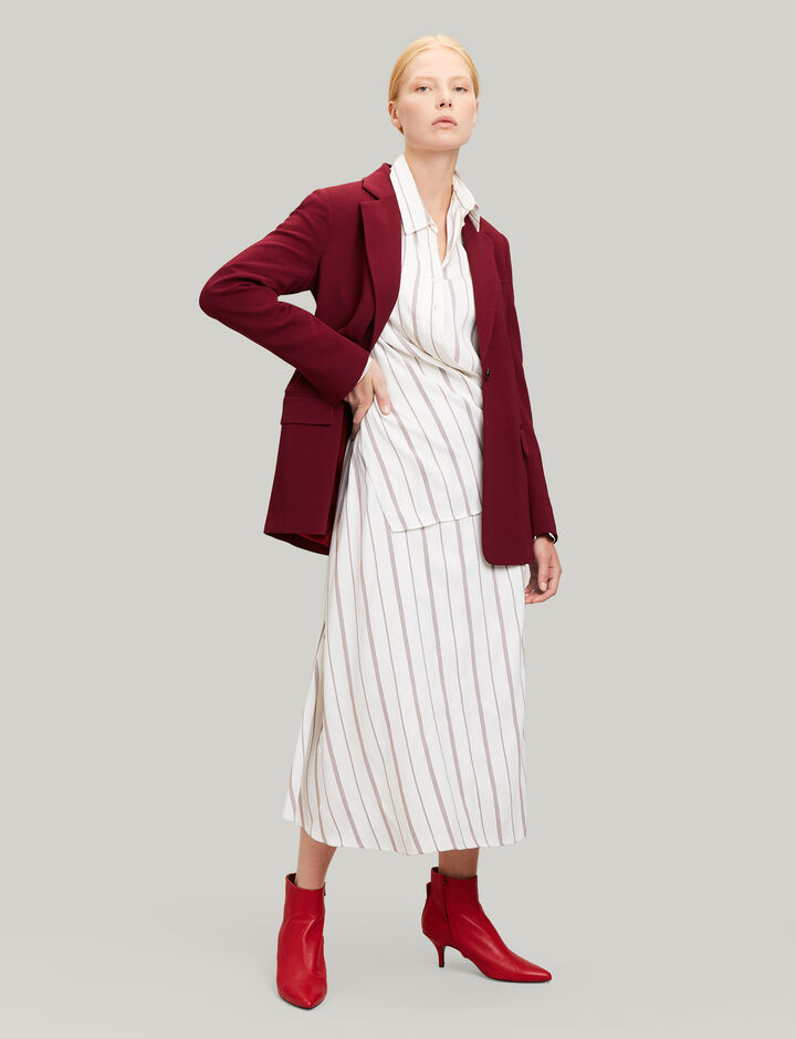Joseph, Claudi Rayon Stripe Dress, in RUBY