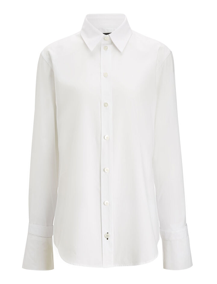 Joseph, Rem Poplin Blouse, in WHITE