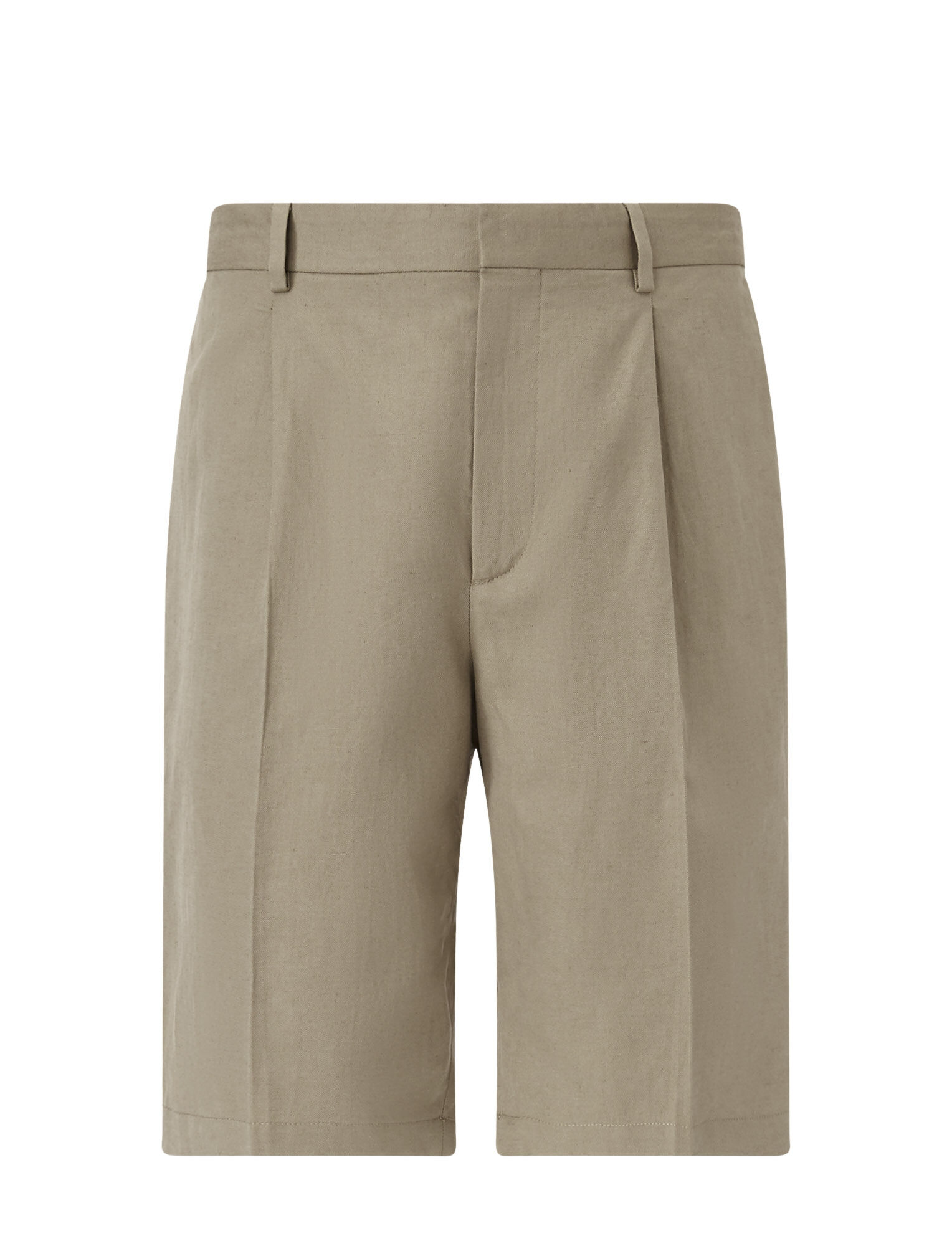 Joseph, Short Plage Linen Cotton Blend Trousers, in SAND