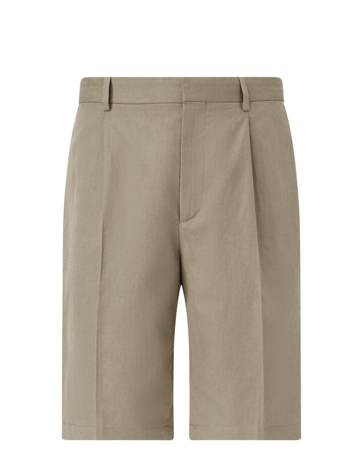 Joseph, Short Plage-Linen Cotton Blend, in SAND