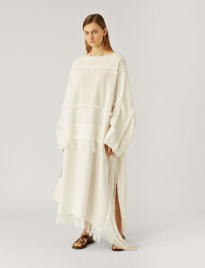 Joseph, Kaftan-Crispy Cotton, in WHITE