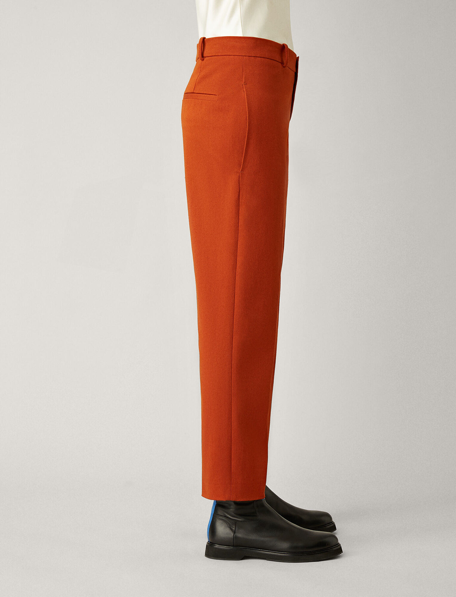 Joseph, Coman Drill Stretch Trousers, in TAN