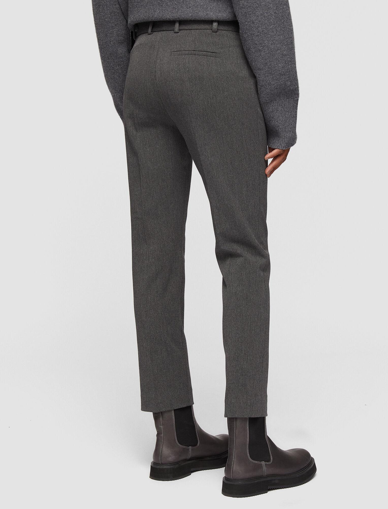 Joseph, Melange Gabardine Stretch Tahis Trousers, in STONE