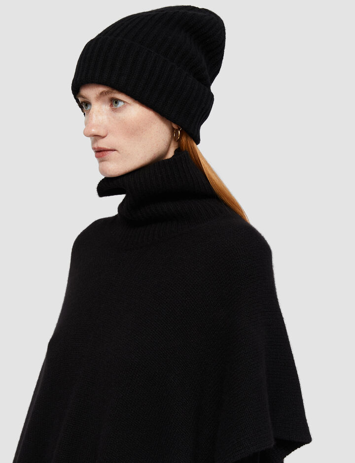 Joseph, Cardigan Stitch Hat, in BLACK