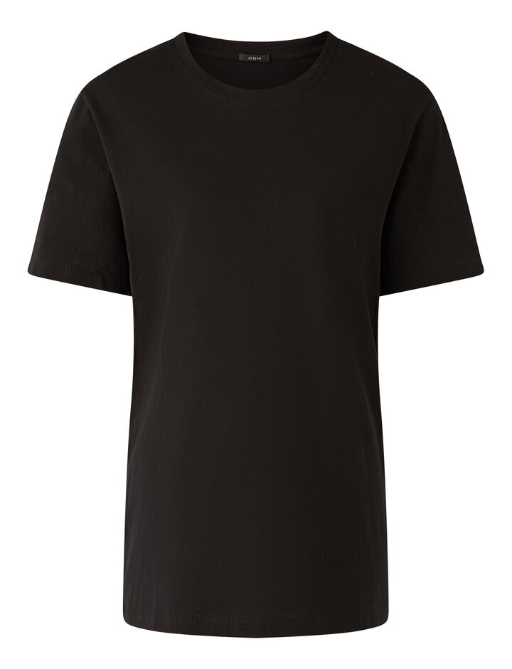 Joseph, Rd Nk Ss Joseph Tee Jersey, in Black