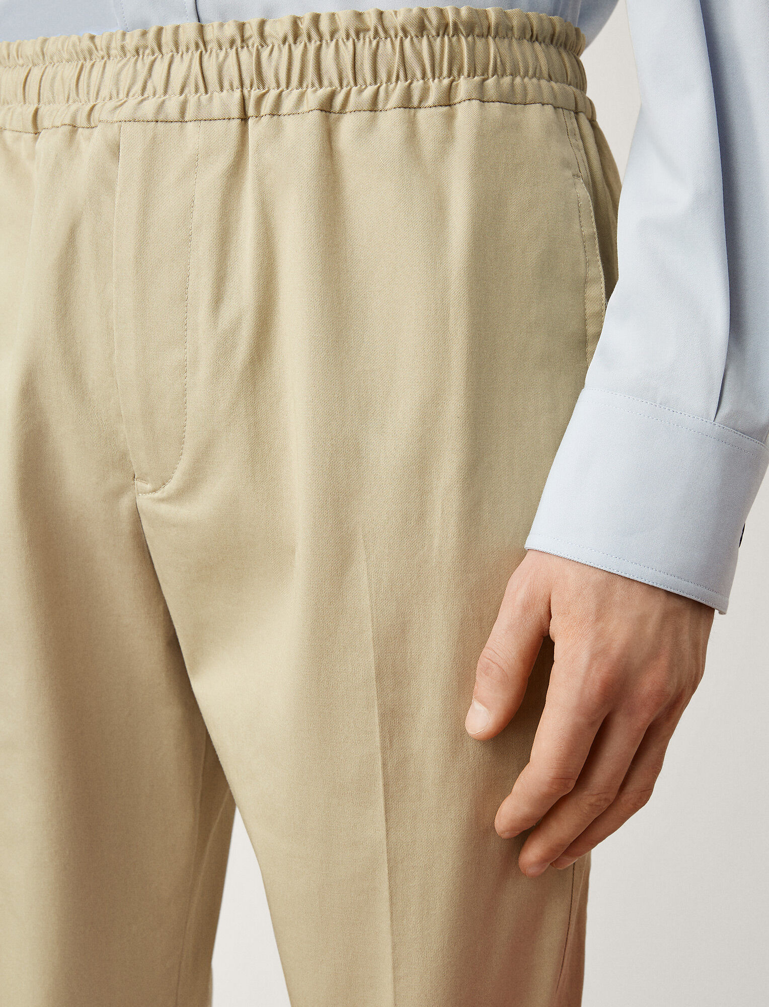 Joseph, Ettrick Fine Gabardine Stretch Trousers, in SAND