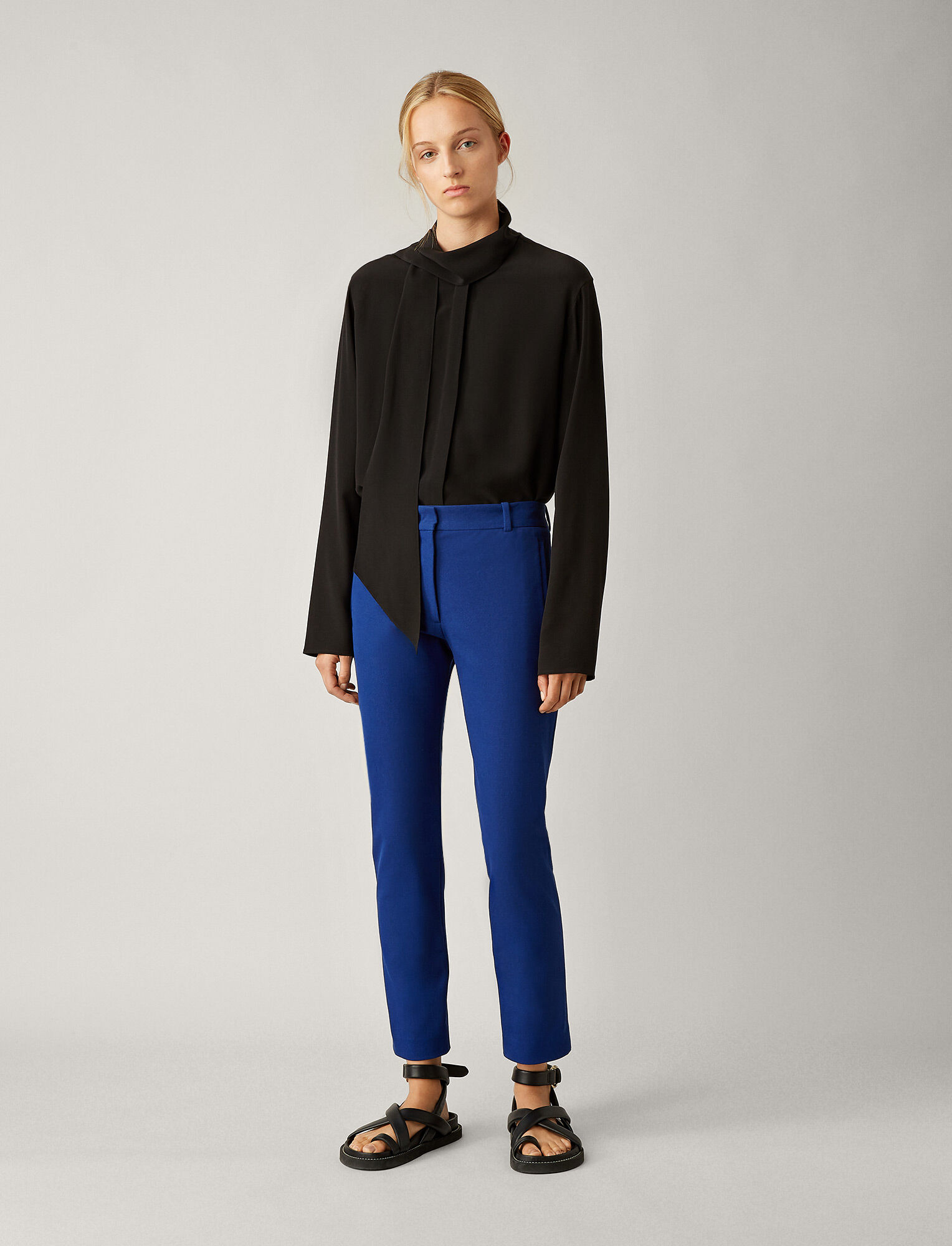 Joseph, New Elliston Gabardine Stretch Trousers, in KLEIN