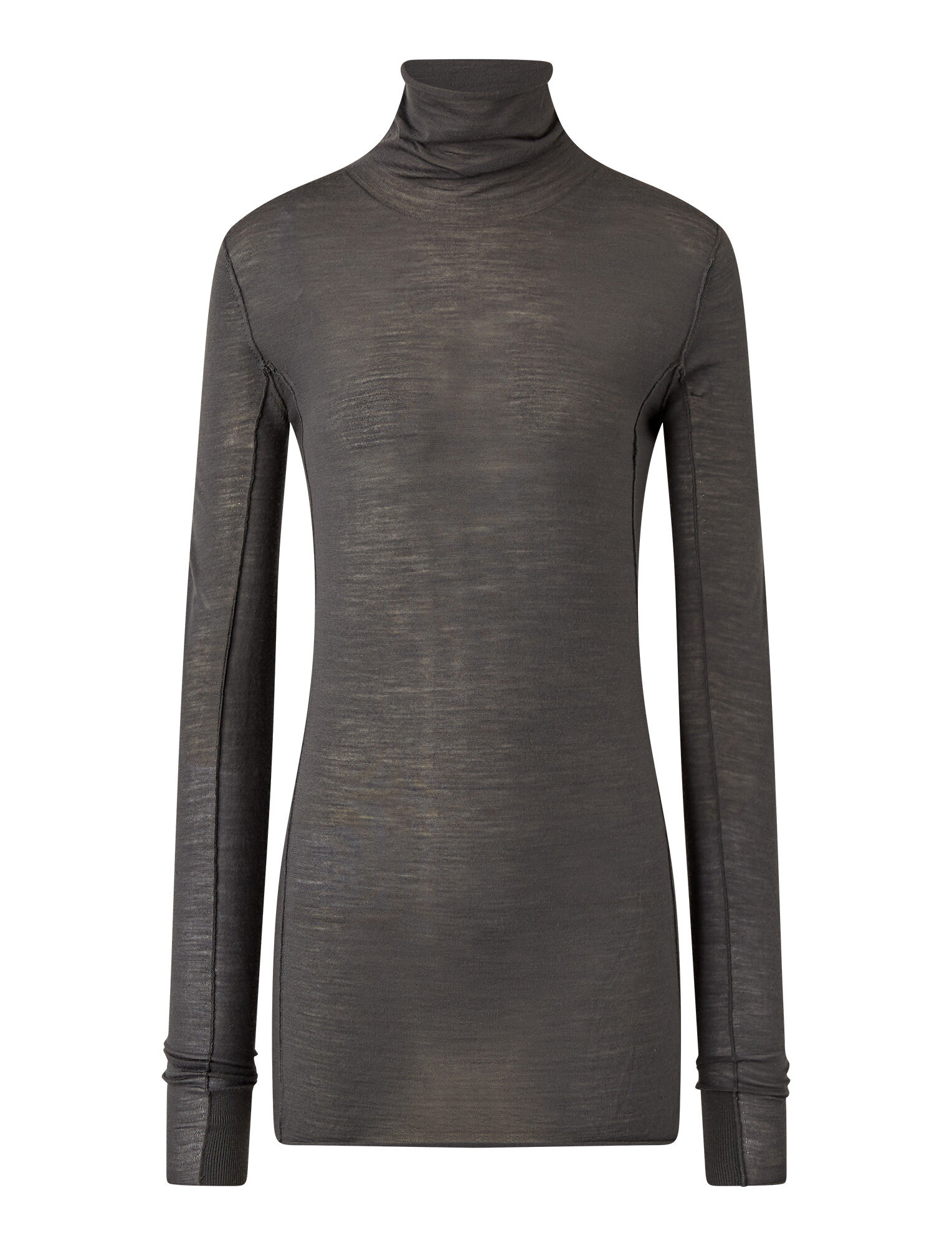 Joseph, High Neck Superfine Merinos Knit, in Anthracite