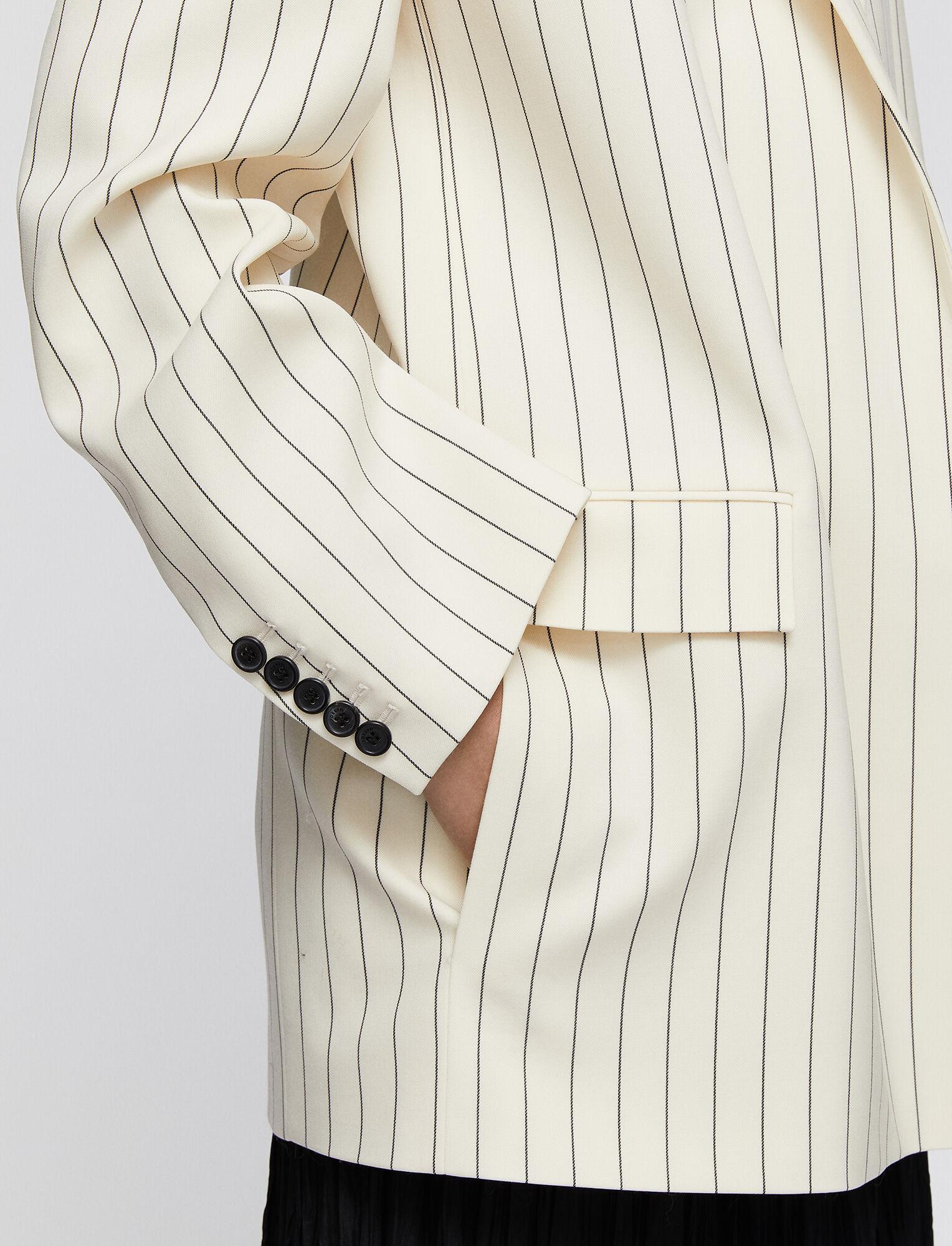 Joseph, Wool Spring Stripe Jules Jacket, in IVORY