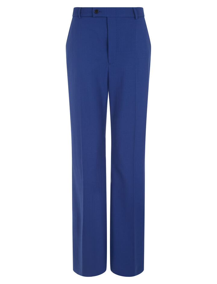 Joseph, Tropez Comfort Wool Trousers, in INDIGO