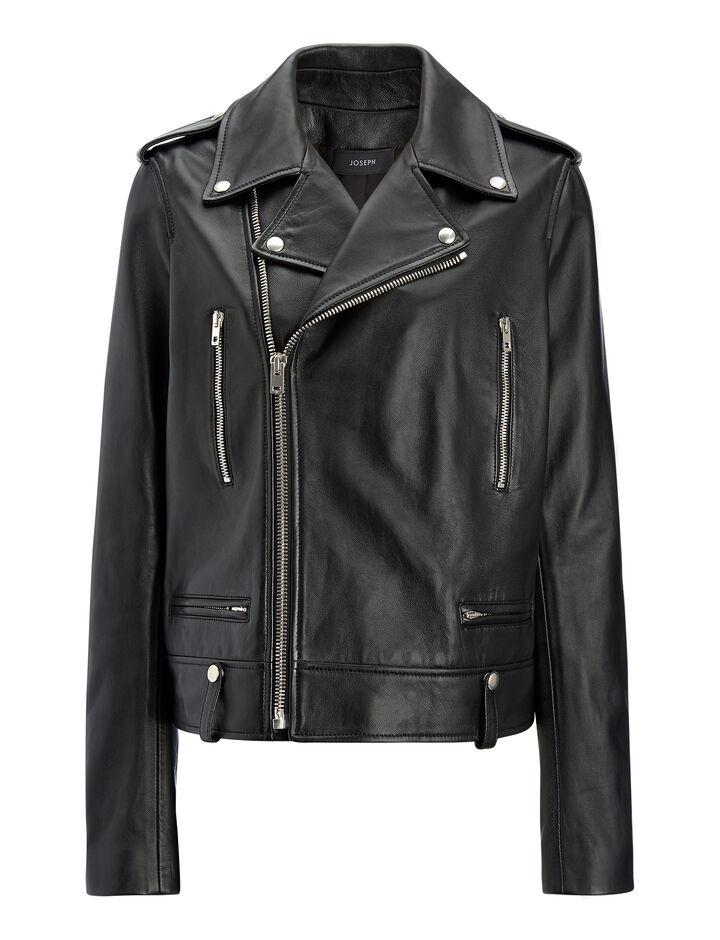 Joseph, Biker Leather Ryder Jacket, in BLACK