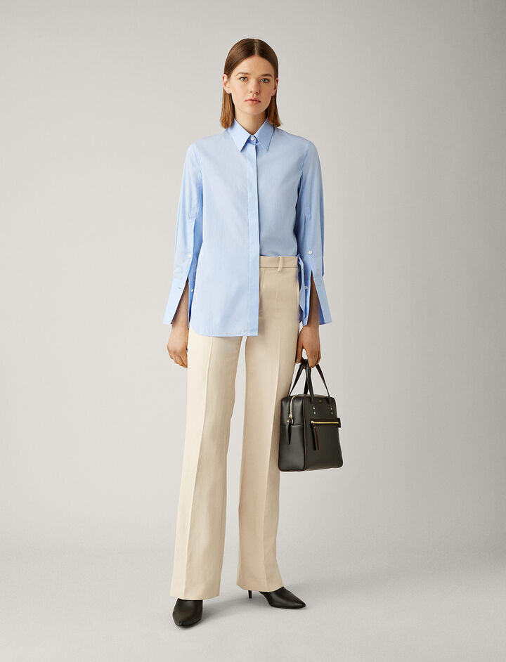 Joseph, Mason Poplin Chambray Blouse, in CHAMBRAY