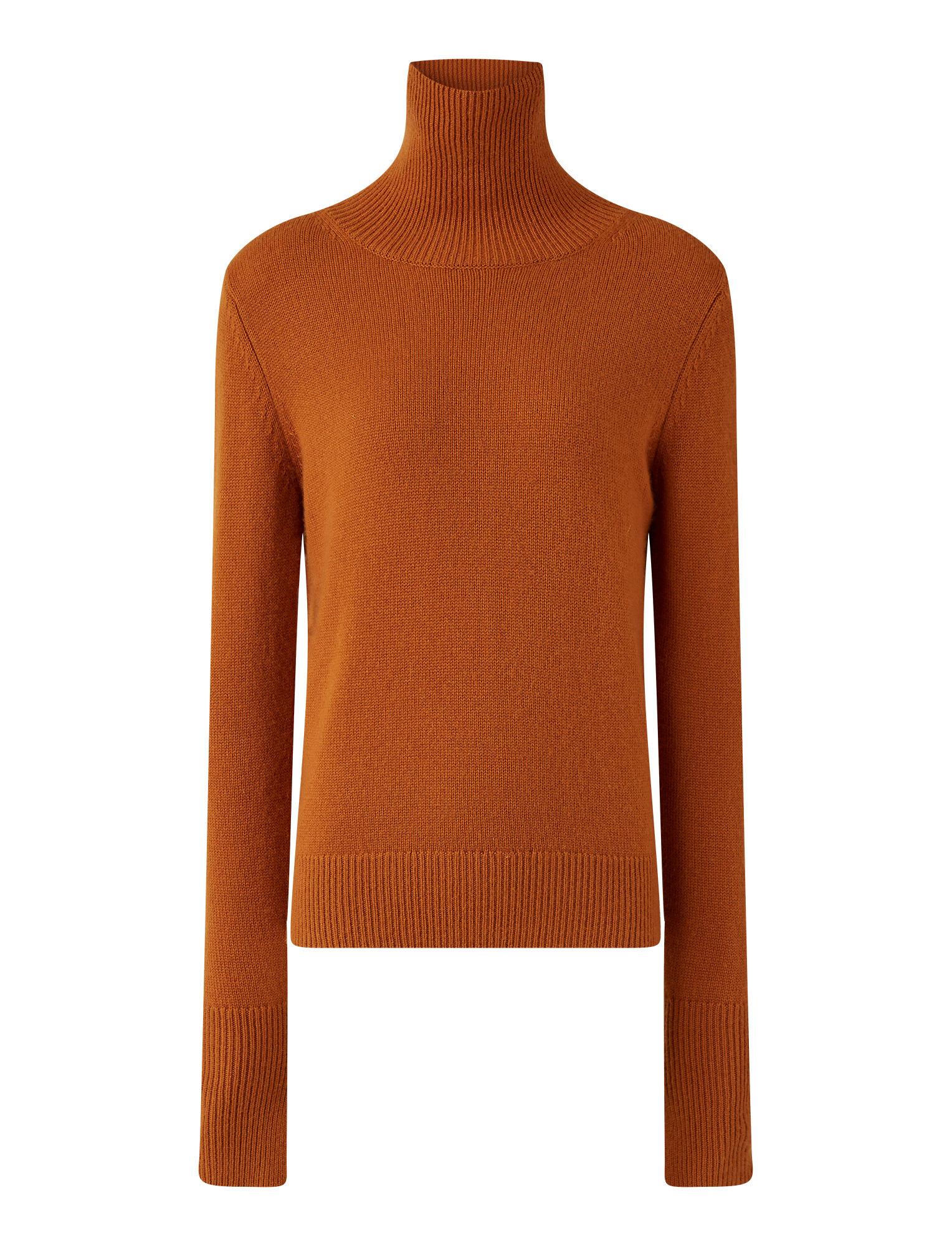 Joseph, High Neck Pure Cashmere Knit, in Fox