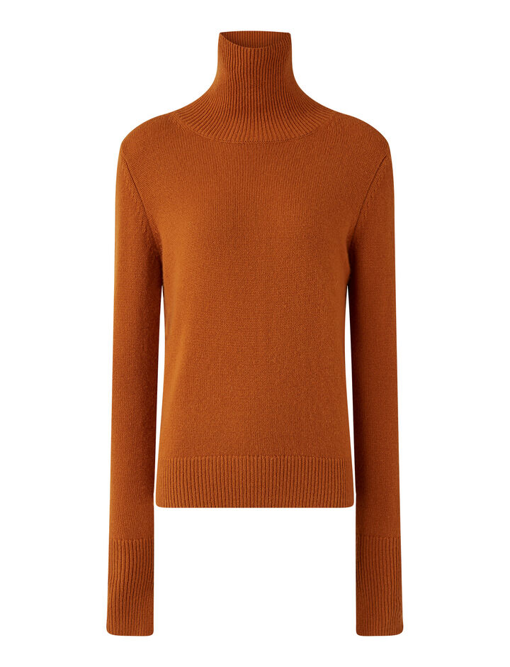 Joseph, High Nk Pure Cashmere Knitwear, in Fox