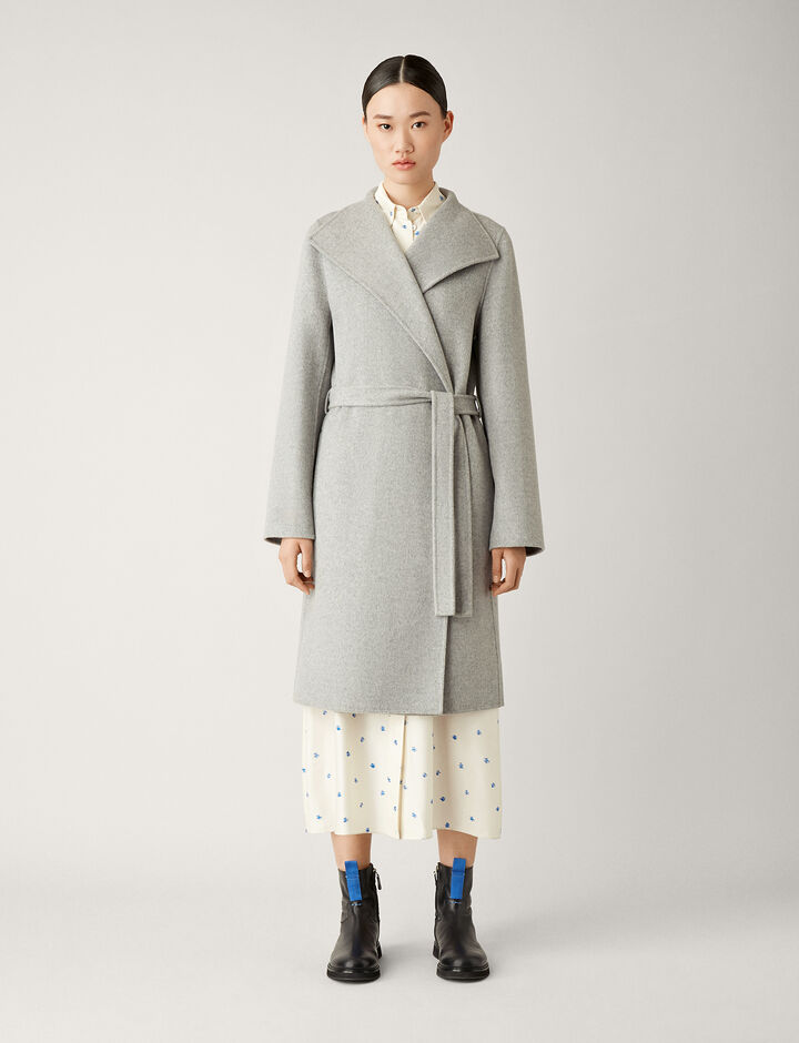 Joseph, Lima Double Face Cashmere Coat, in GREY