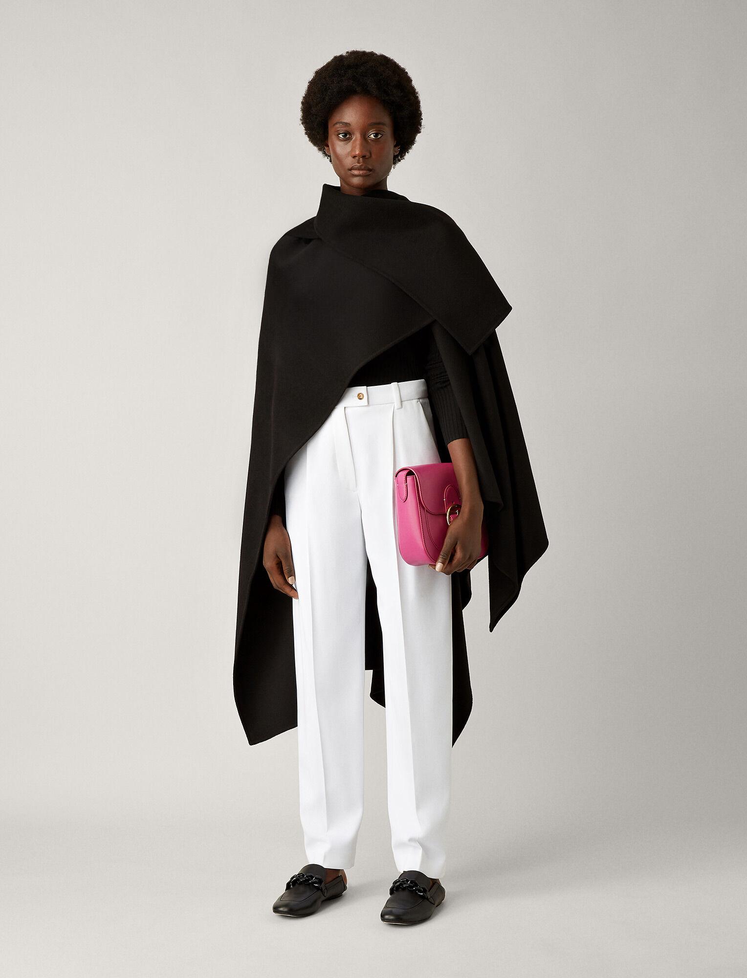 Joseph, Quadro Double Face Cashmere Coat, in BLACK