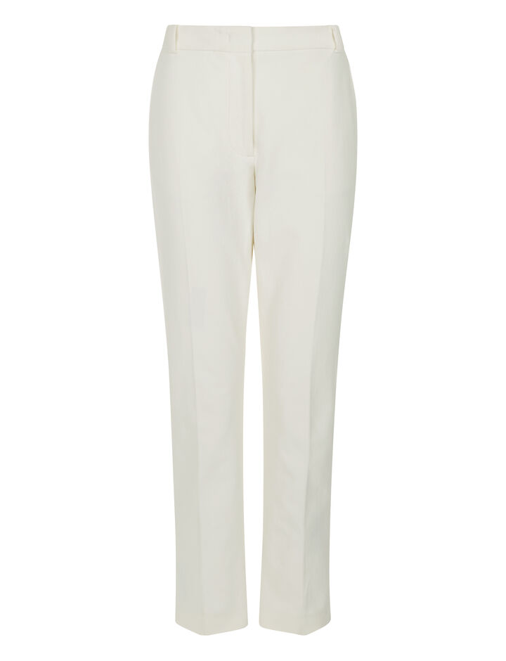 Joseph, Zoom Gabardine Stretch Trousers, in WHITE