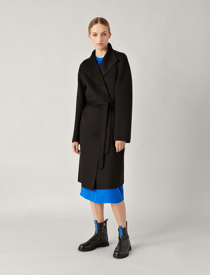 Joseph, Lima Double Face Cashmere Coat, in BLACK