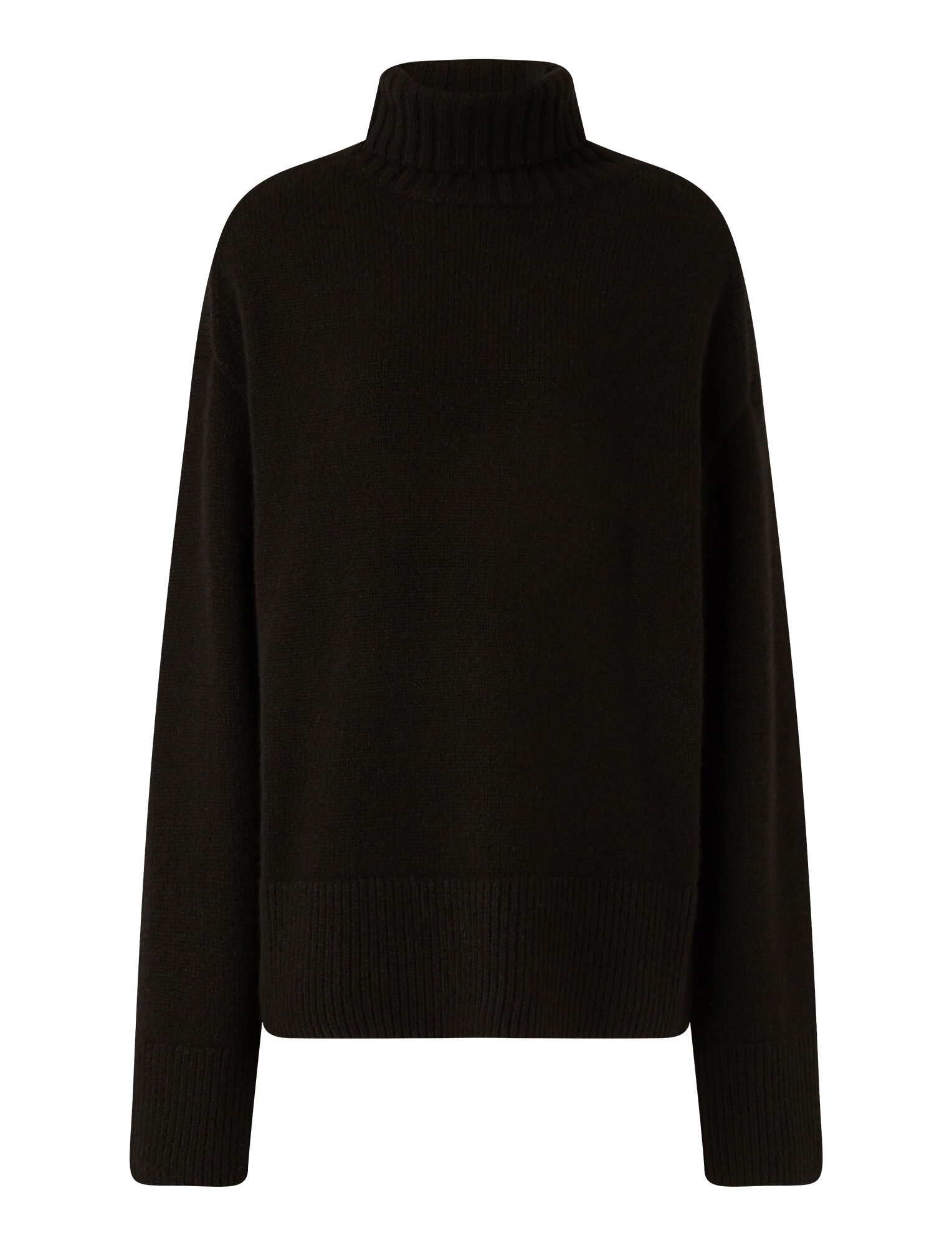 Joseph, High Neck Luxe Cashmere Knit, in Black