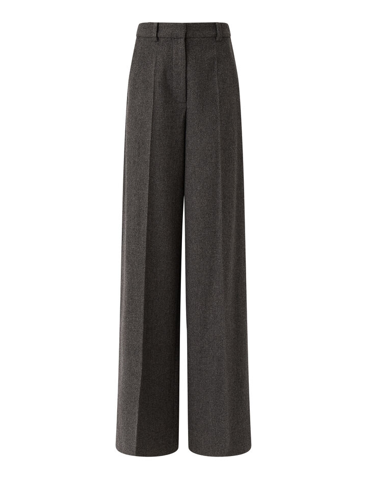 Joseph, Felted Flannel Alana Trousers, in Graphite