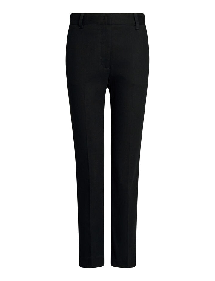 Joseph, Zoom Drill Stretch Trousers, in BLACK