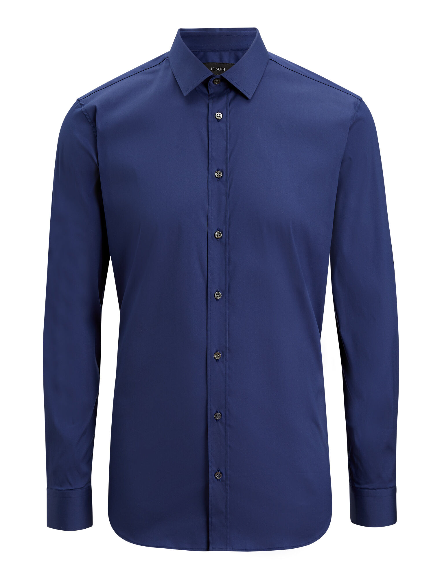 Joseph, Chemise Jim en popeline stretch, in INDIGO