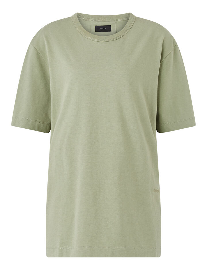 Joseph, Crew Nk Ss-Perfect Tee, in KHAKI