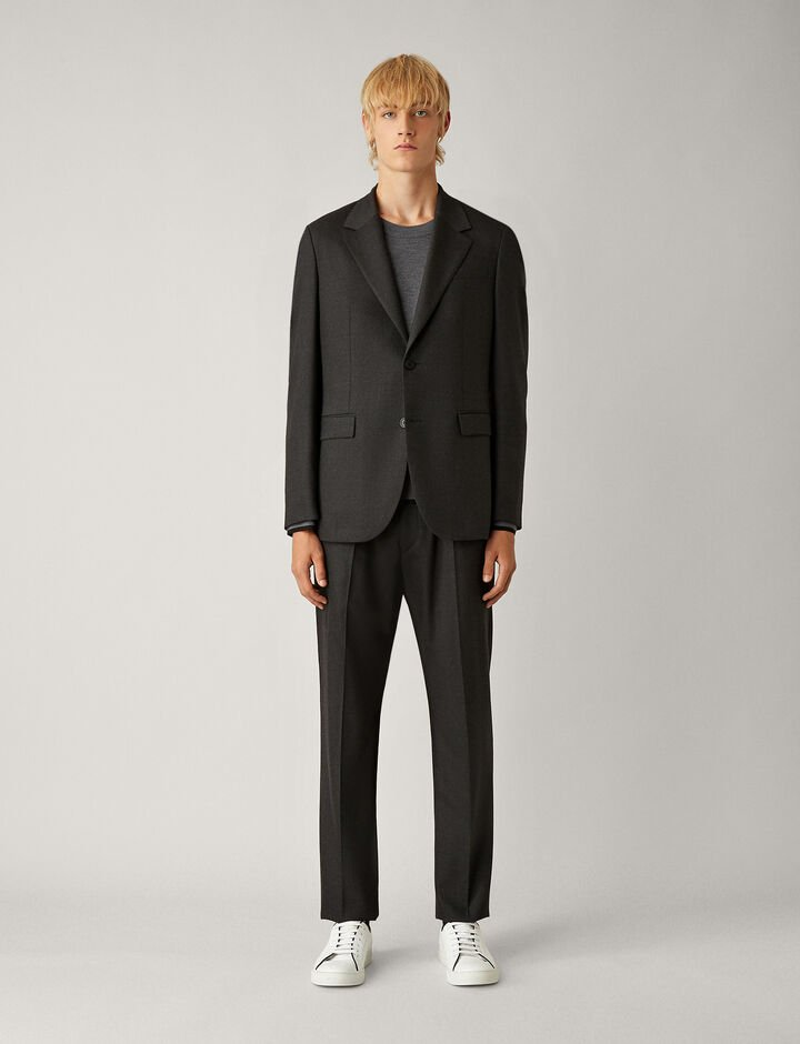 Joseph, Cattiau Flannel Stretch Jacket, in CHARCOAL