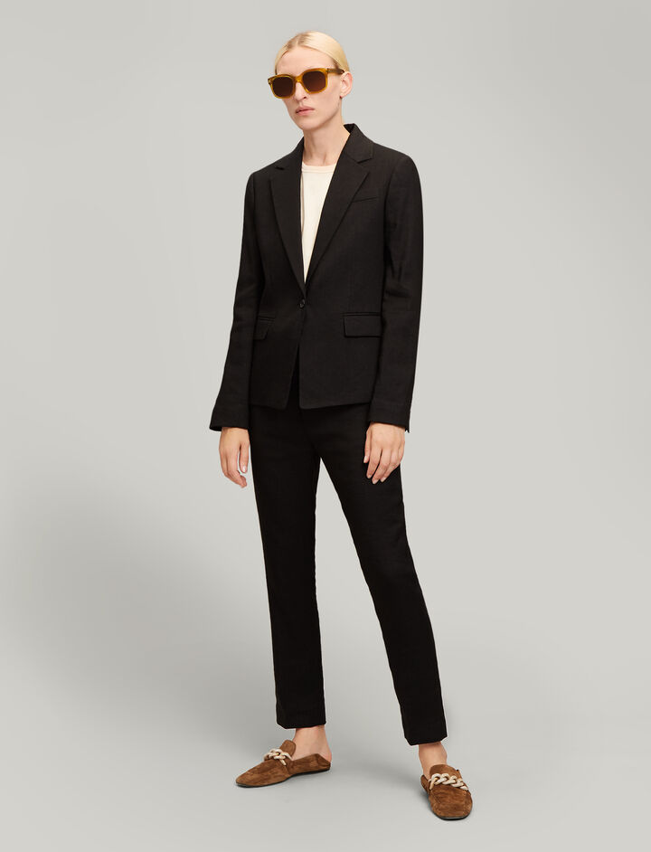Joseph, New Williams Linen Stretch Jacket, in BLACK