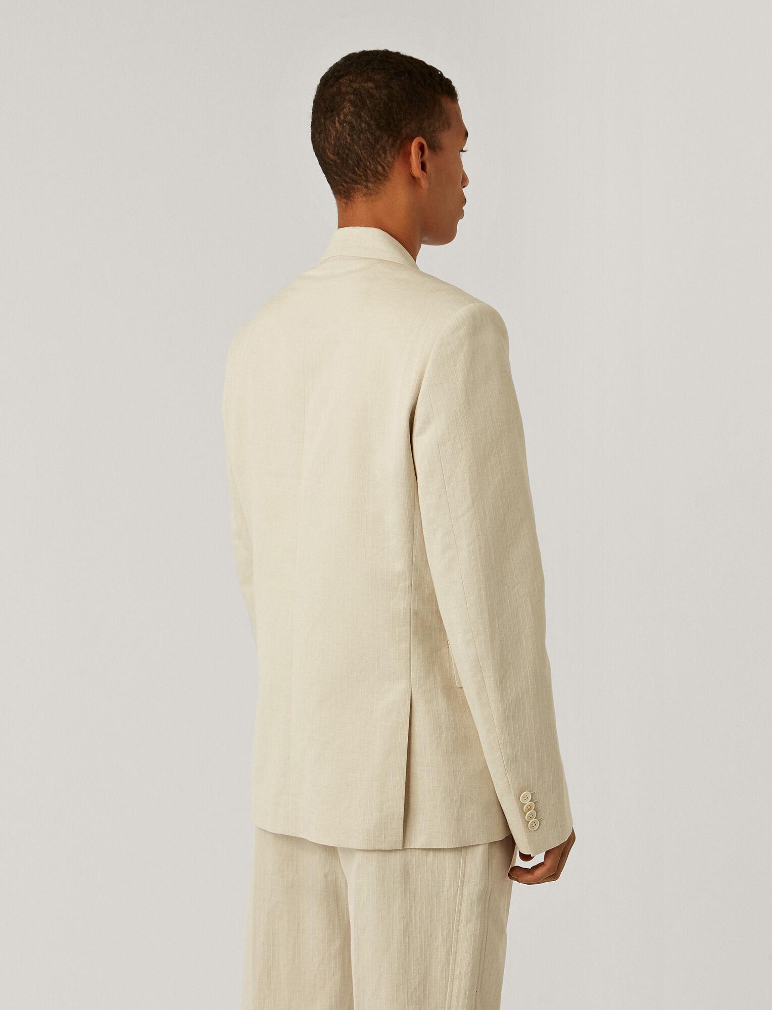 Joseph, Cotton Linen Dobby Jacket, in ECRU