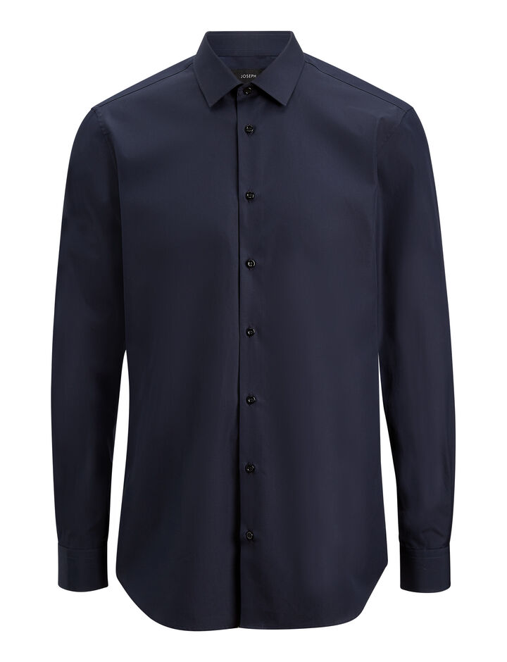 Joseph, John Poplin Shirt, in NAVY