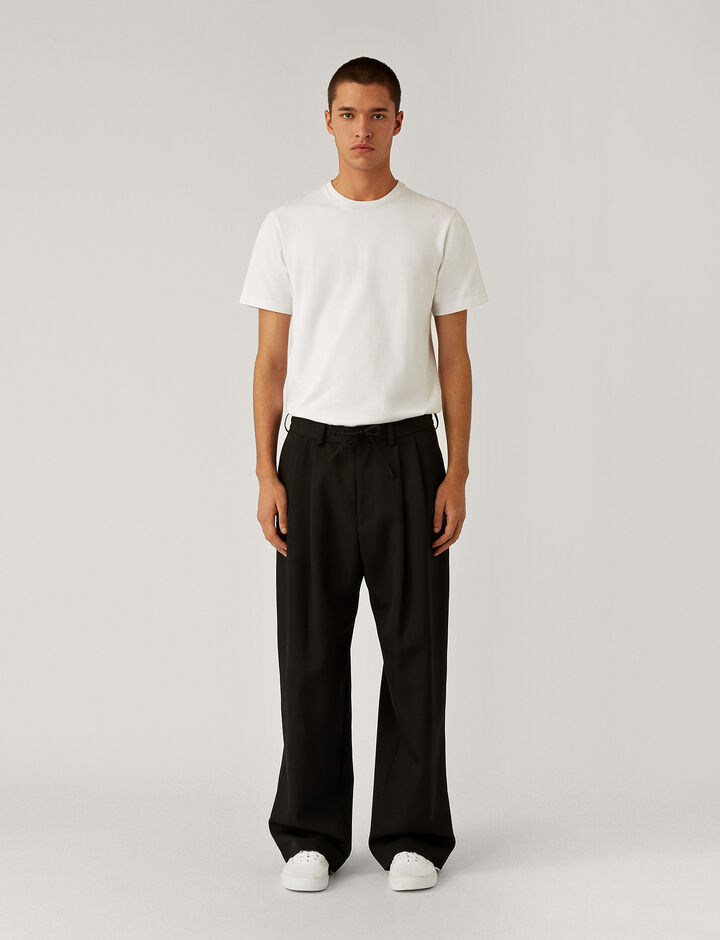 Joseph, Impregnate Wool Trousers Trousers, in Black