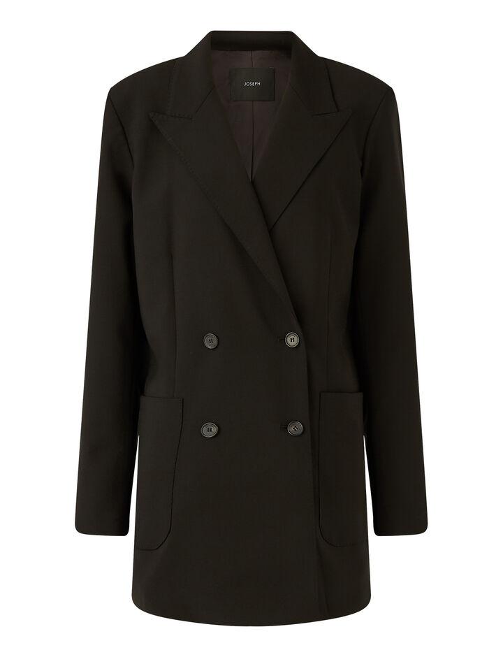 Joseph, Josie Light Wool Suiting Jackets, in Black