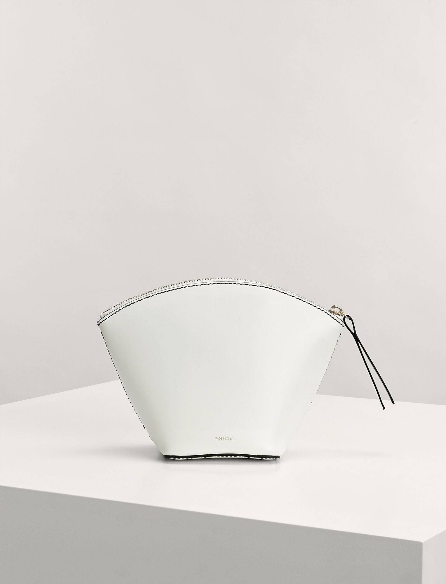 Joseph, Calf Leather Cosmetic Pouch, in WHITE
