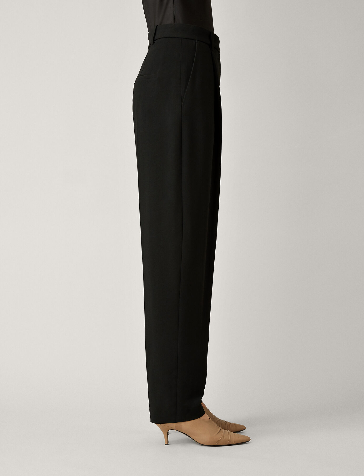 Joseph, Arbala Stretch Acetate Viscose Trousers, in BLACK