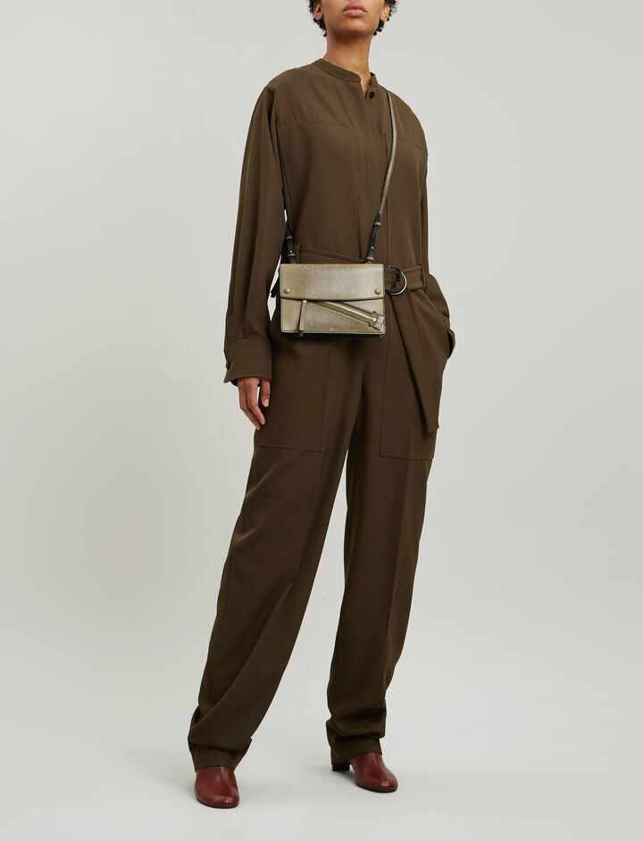 Joseph, Ted Fluid Wool Jumpsuit, in FATIGUE