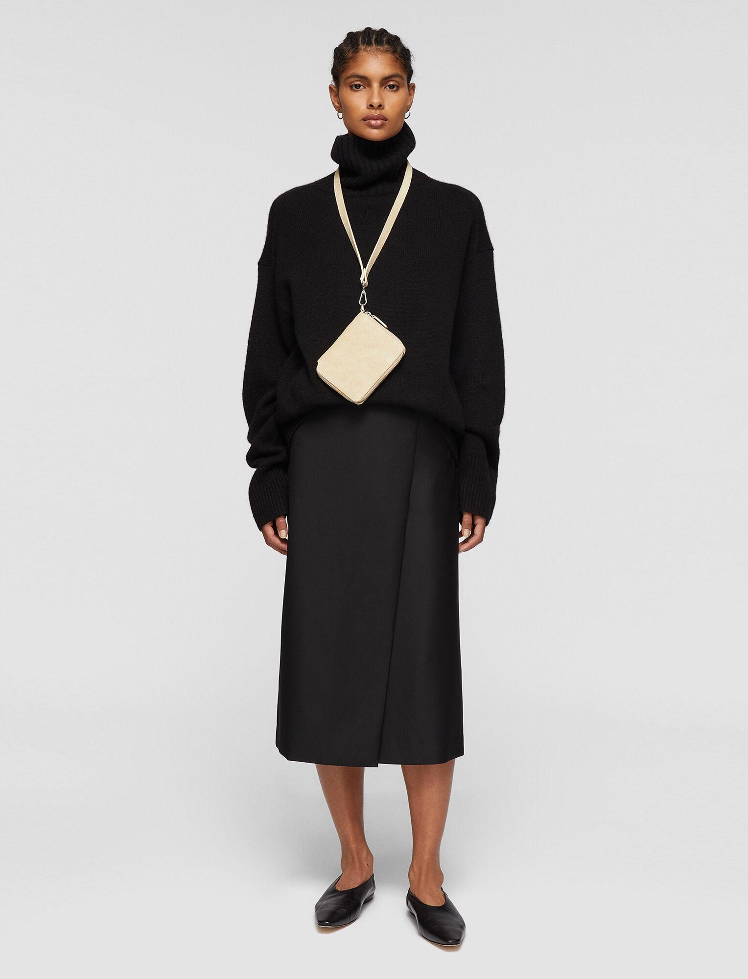 Joseph, Tailoring Wool Sebela Skirt, in BLACK