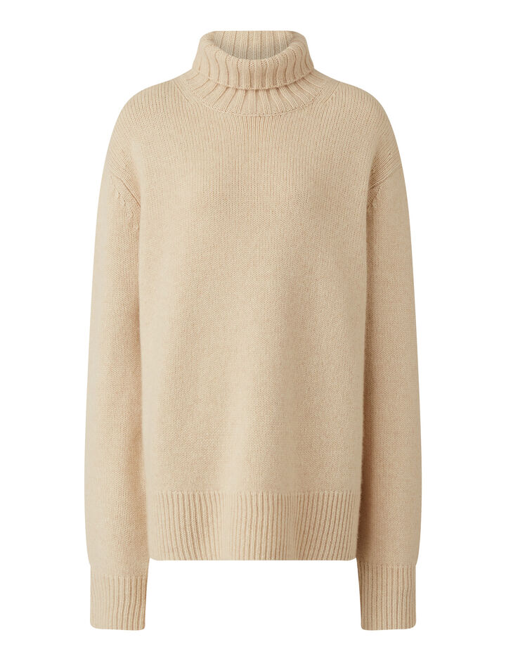 Joseph, High Nk Ls-Luxe Cashmere, in IVORY