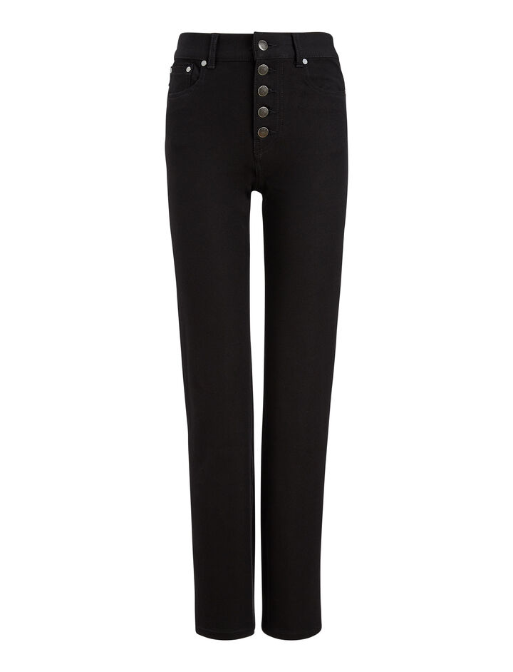 Joseph, Den Gabardine Stretch Trousers, in BLACK