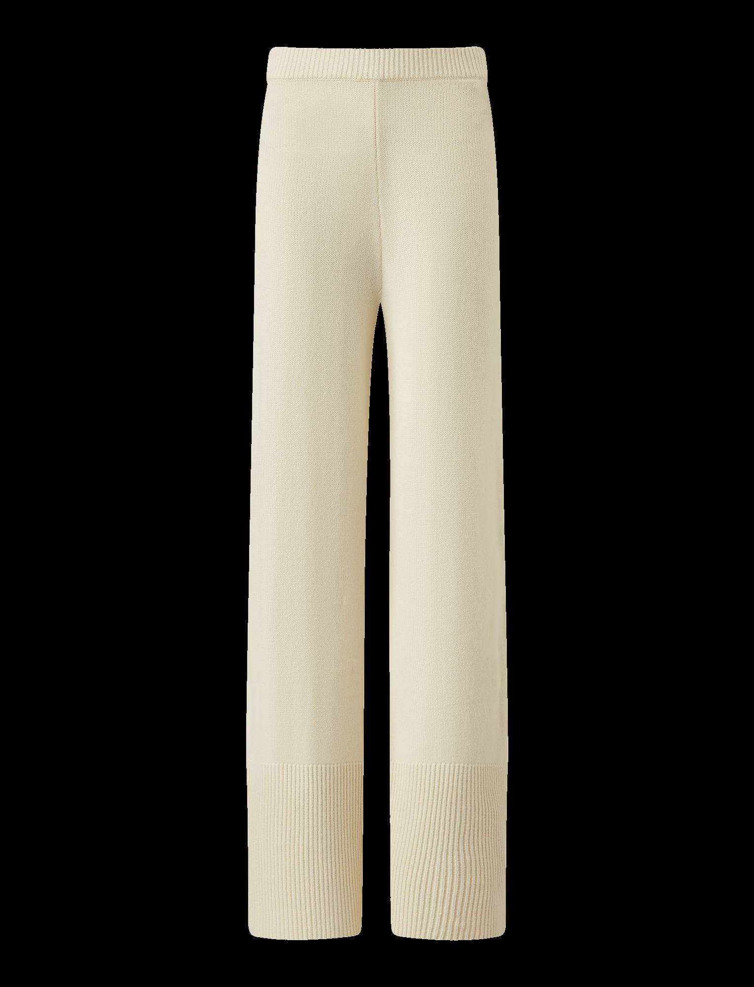 Joseph, Pure Cashmere Knit Trousers, in CREAM