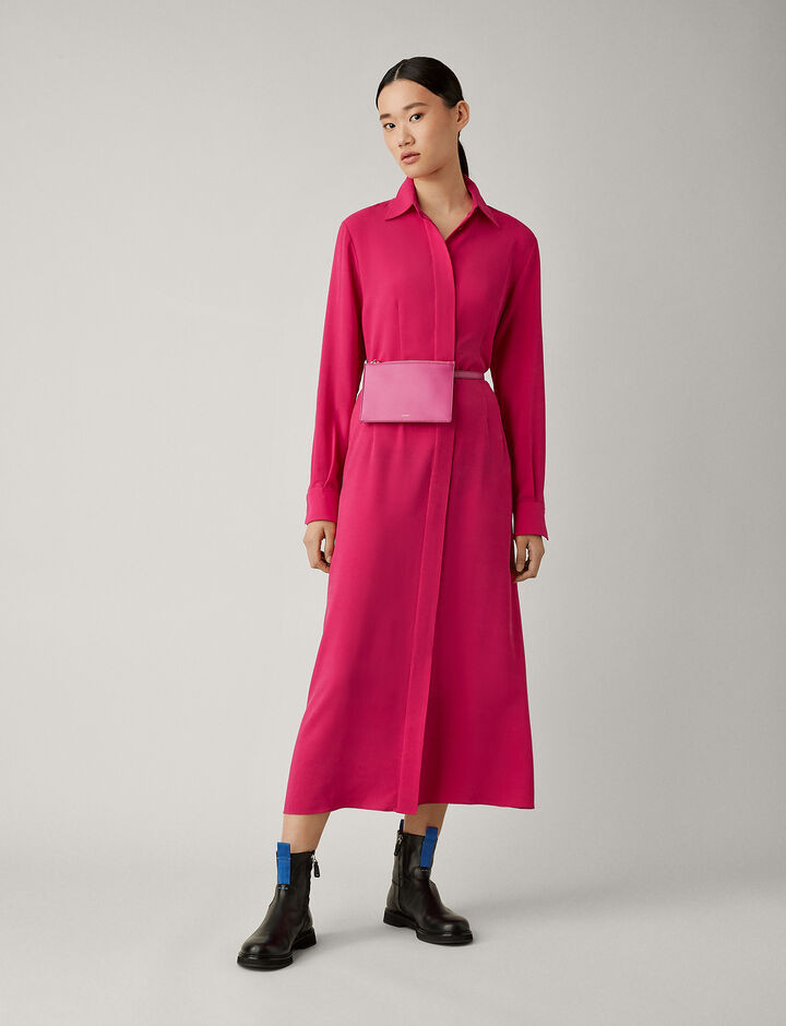 Joseph, Turner Silk Rib Shirting Dress, in CORUNDUM