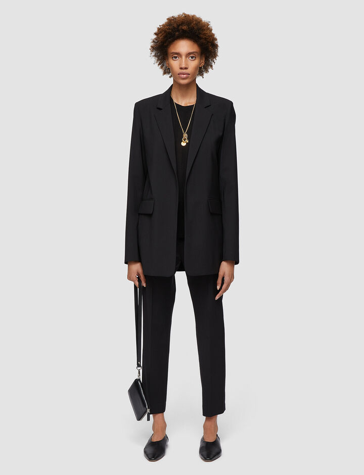 Joseph, Joan-Light Wool Suiting, in BLACK