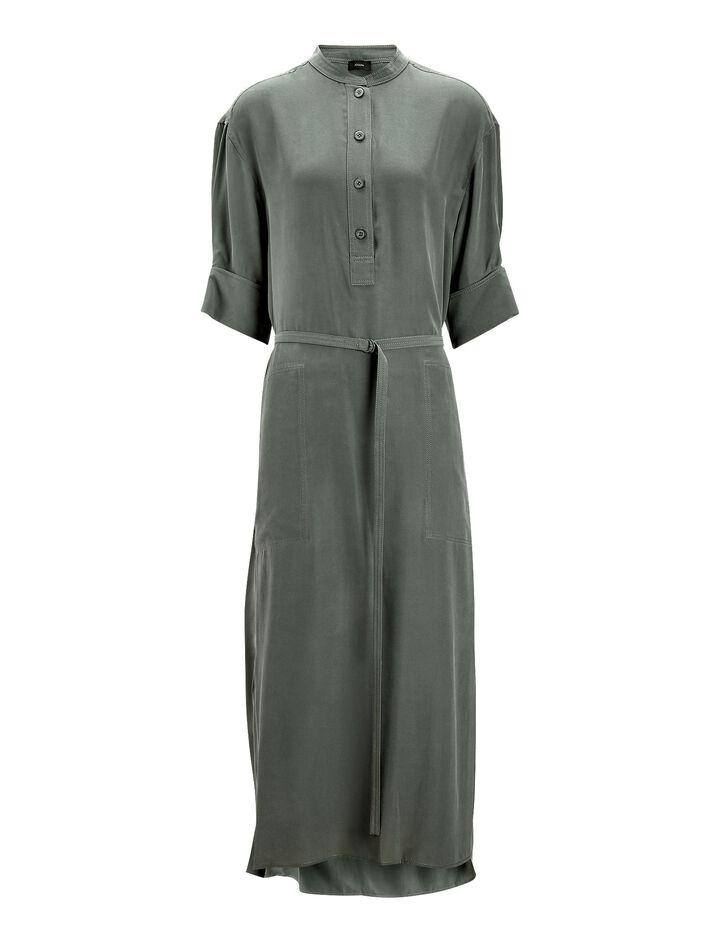 Joseph, Barker Silk Toile Dress, in LIGHT CLOVER