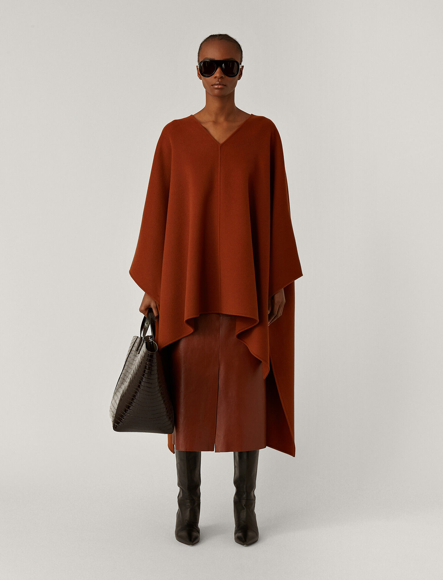 Joseph, Ciela Double Face Cashmere Coat, in Fox