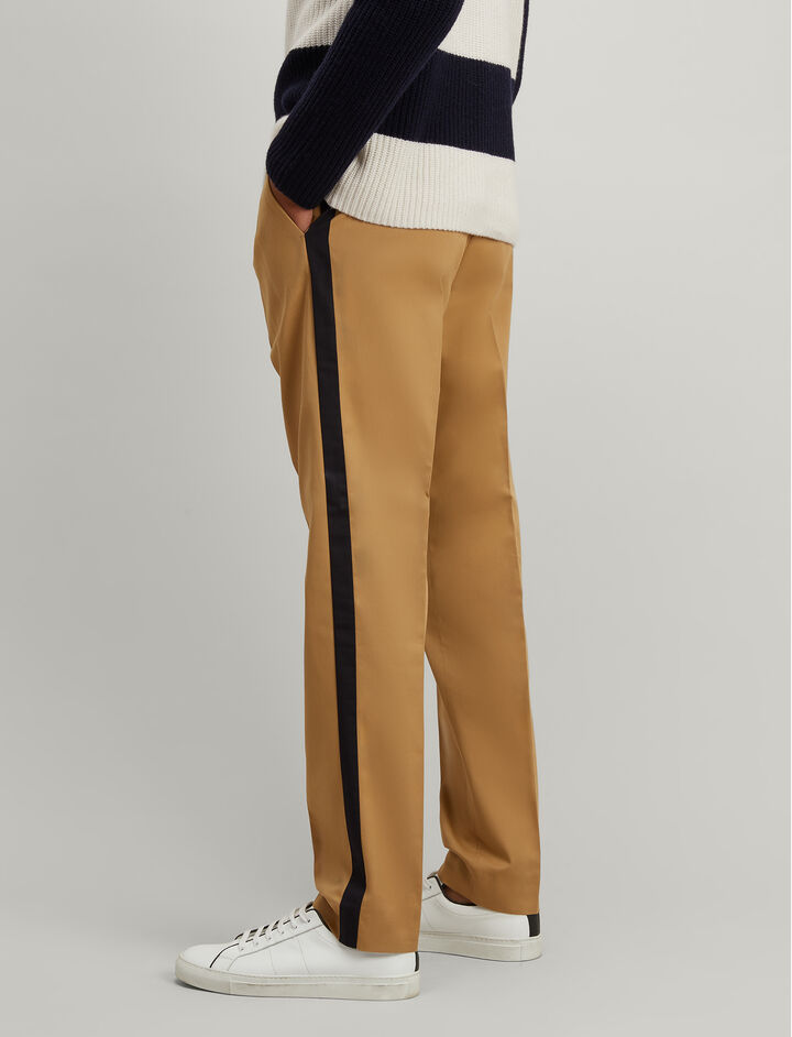 Joseph, Stripe Twill Anderson Chino Trousers, in CAMEL